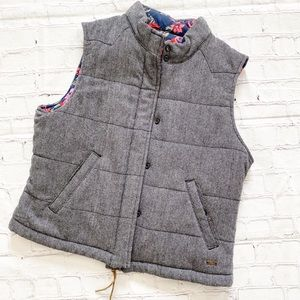 Levi's Grey & Floral Reversible Puffer Vest
